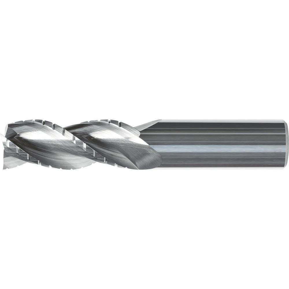 Kyocera 1780-10000.2000, 1/10 Cutting Dia, 2.000 Length of Cut, Series 1780 Atlas, 3 Flute, Right Hand Spiral/Medium Helix, Standard Length, Uncoated, Solid Round High Performance Rougher End Mill