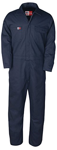 Big Bill TX1331US7-NAY-48T FR Coverall, Unlined, 7 oz Westex Ultrasoft, Tall, Chest-48, Navy