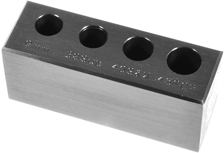 EGW 4-Hole Chamber Checker Max Cartridge Gage (9mm Luger, 38 Super, 40 S&W, 45 ACP)
