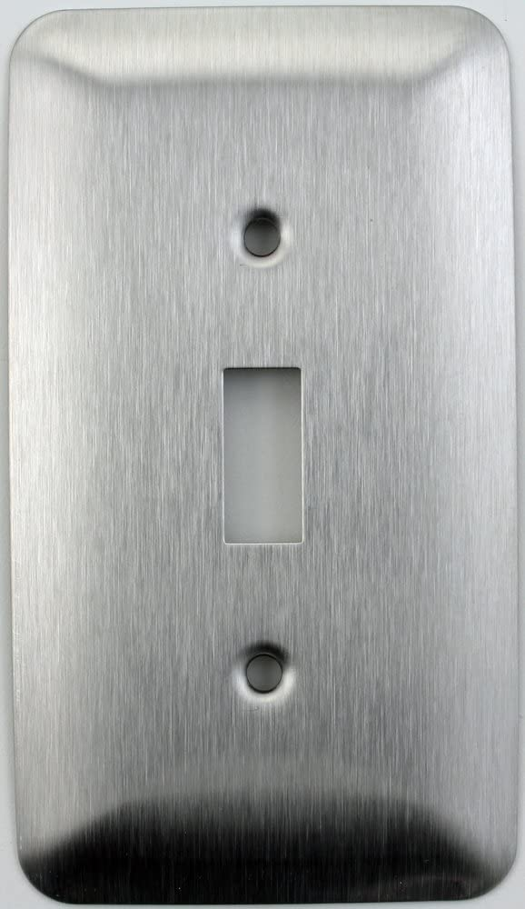 Mulberry Princess Style Satin Stainless Steel One Gang Toggle Light Switch Wall Plate