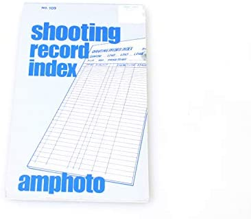 Photographers Shooting Record Book
