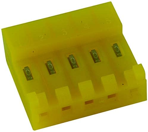 3-643818-5 - Wire-To-Board Connector, 3.96 mm, 5 Contacts, Receptacle, MTA-156 Series, IDC/IDT, 1 Rows, (Pack of 100)