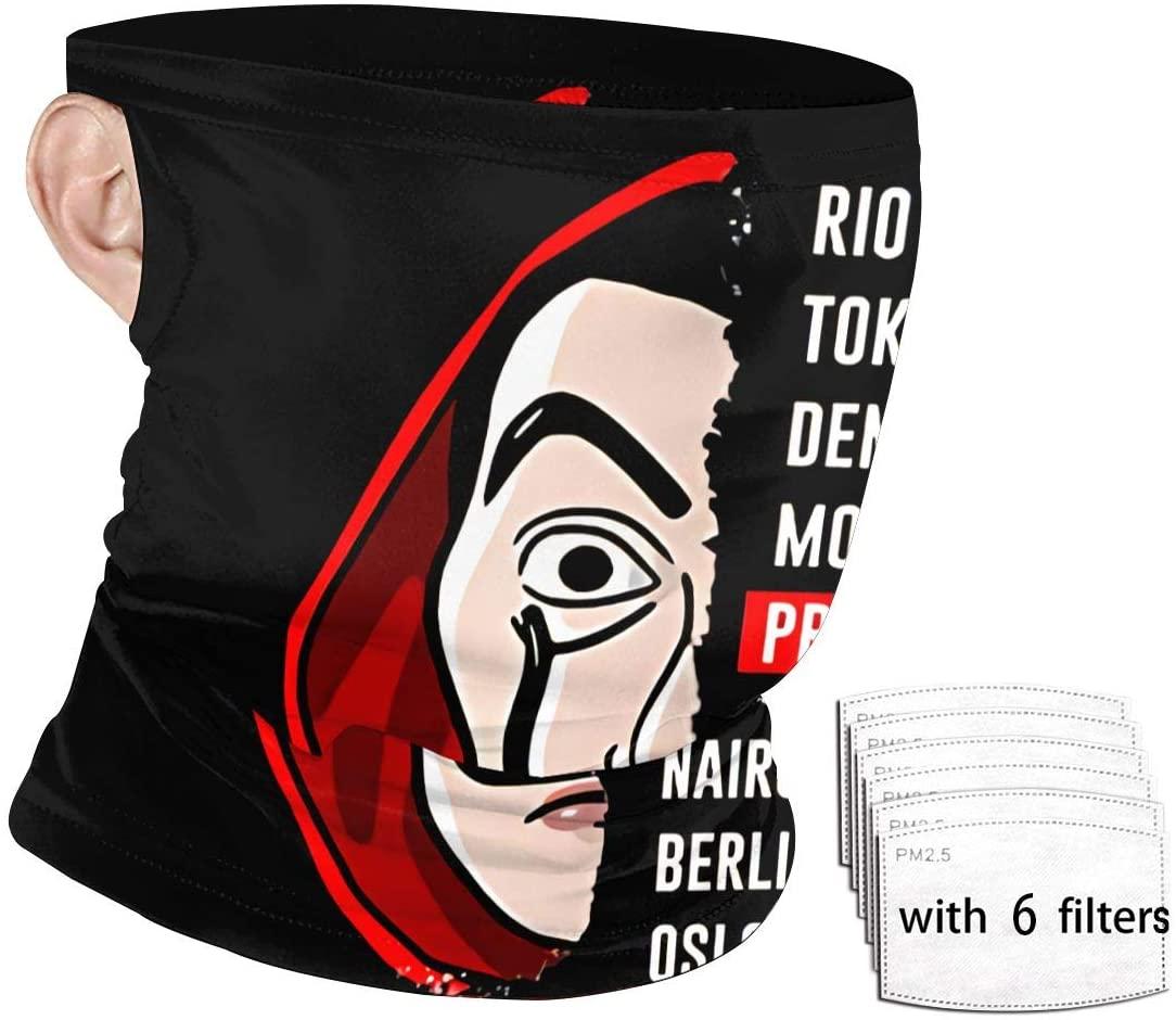 Money Heist Hanging Ear Windproof Face Mask Personality Art Outdoor Mask Windproof Sports Dustproof Safety Headscarf