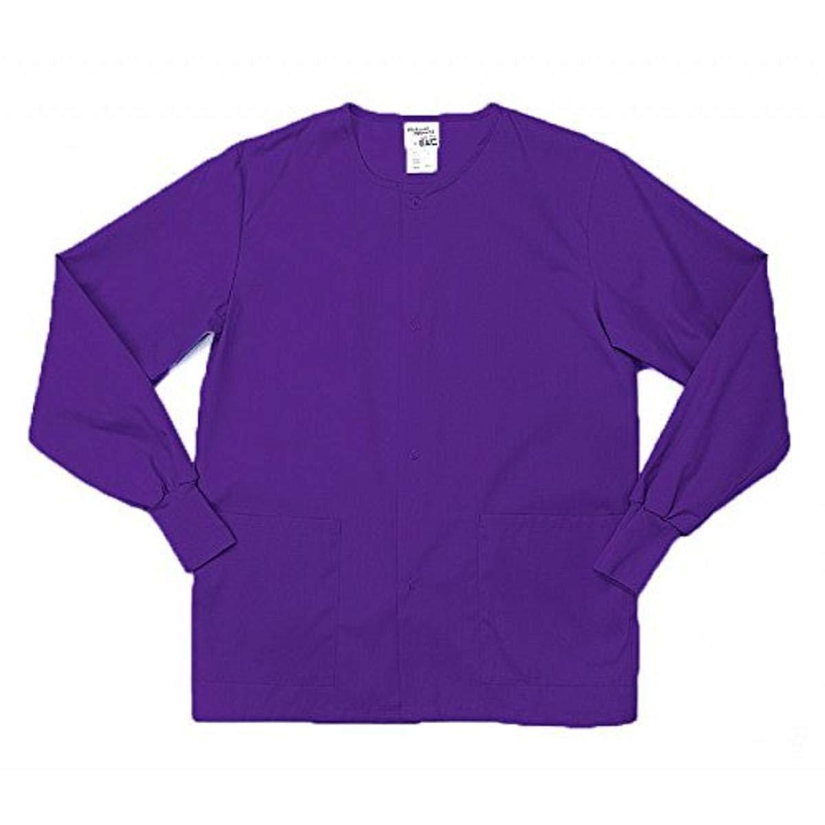 Pinnacle Textile SW68F 4.25 OZ 65/35 Polyester/Cotton, Female Warm UP Jacket-Medium-Purple