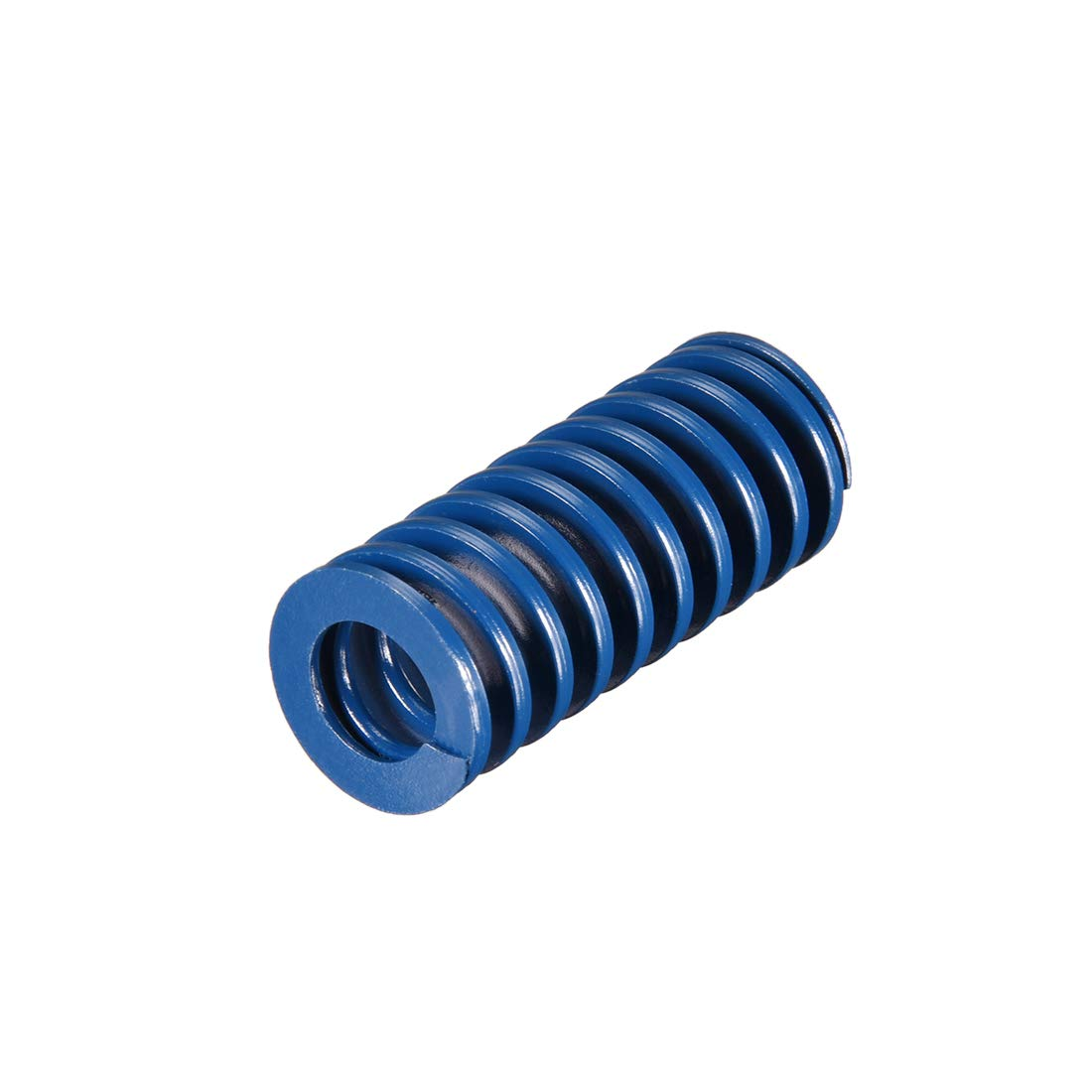 uxcell 20mm OD 45mm Long Spiral Stamping Light Load Compression Mould Die Spring Blue 1Pcs
