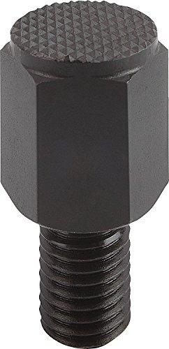 Kipp 02041-410040 Steel Style D Positioning Feet, Heat-Treated with Black Oxide Finish, Metric, M10 Thread, 56 mm Length