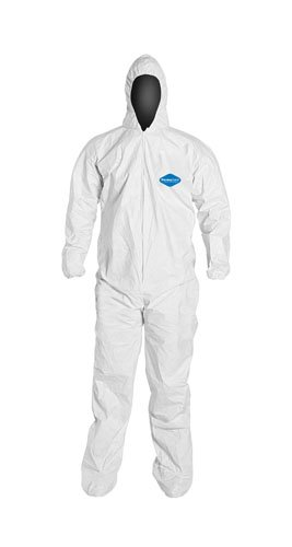 Liberty PermaGard Micro-Porous Film Over SpunBonded Polypropylene Zipper Front Coverall with Attached Hood and Boots, 3X-Large (Case of 25)
