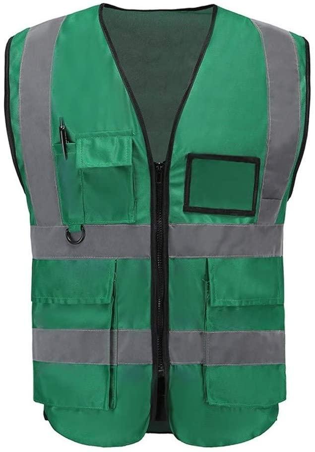 Safety Vest Reflective Vest, Warning Protective Vest High Visibility Vest Night Travel Safe Light and Breathable Overalls Green Child Safety Vest