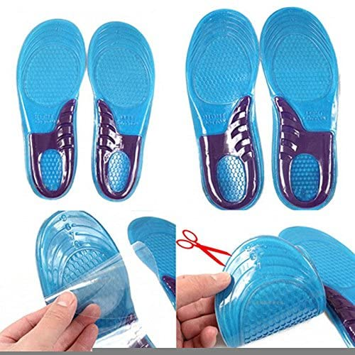 NPLE--2pc Men Silicone Gel Insoles Pads Orthotic Arch Support Shoe Pad Fast Ship