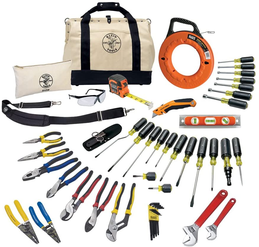 Tool Set with Utility Knife, Adjustable Wrenches, Screwdrivers, Pliers, and More, 41 Piece Klein Tools 80141