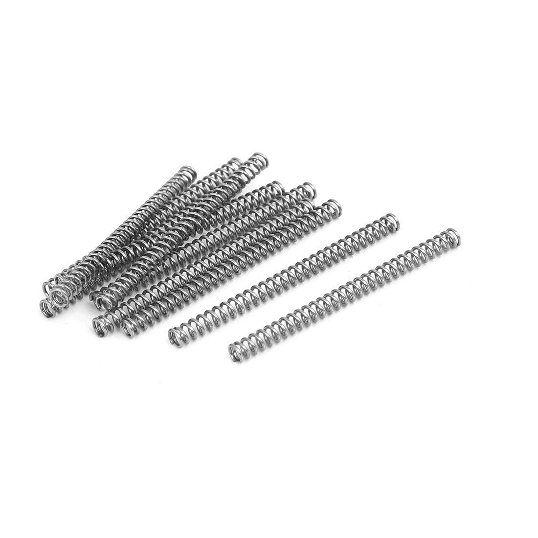 uxcell 0.5mmx3mmx40mm 304 Stainless Steel Compression Springs Silver Tone 10pcs