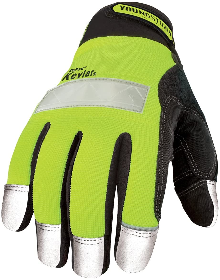 Youngstown Glove 08-3083-10-M Safety Lime Glove Lined with Kevlar Medium