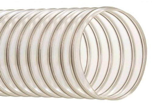 Hi-Tech Duravent UFD Series Urethane Abrasion Resistant Duct Hose, Wire Reinforced, Clear, 8