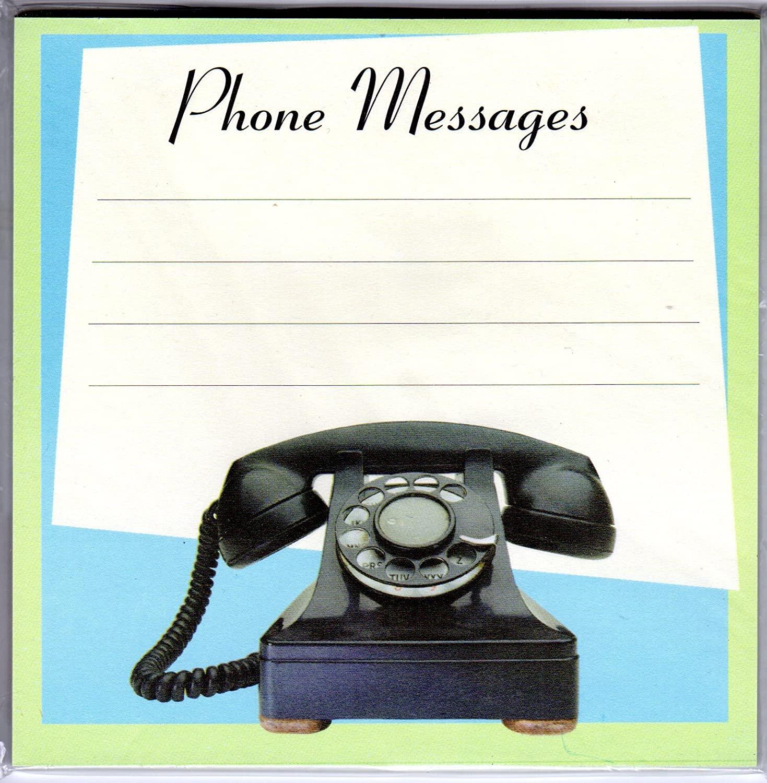 Magnetic Phone Message Pad Retro Design 5