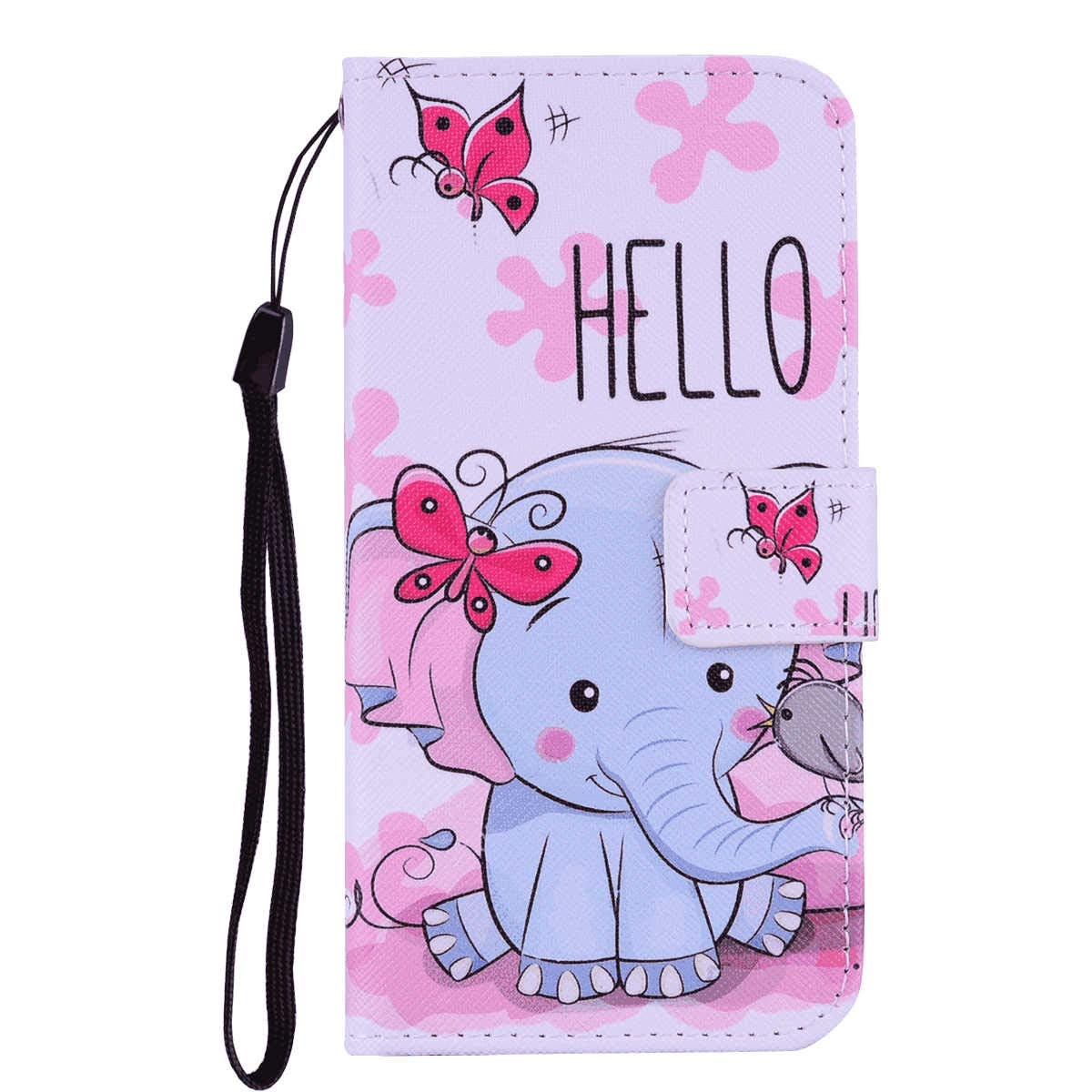 Leather Cover Compatible with iPhone 11 Pro Max, Elephant Wallet Case for iPhone 11 Pro Max