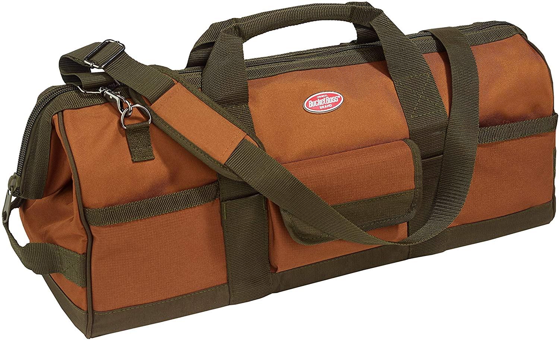 Bucket Boss Gatemouth 24 Tool Bag in Brown, 60024, 20 liters