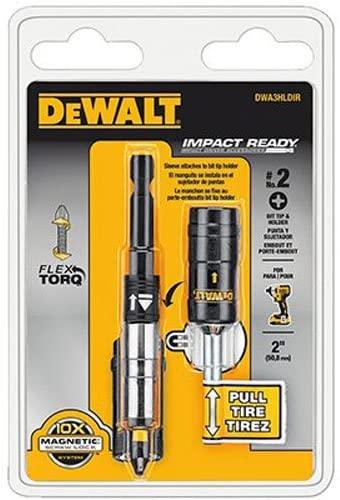 DEWALT Magnetic Bit Holder, FlexTorq, Impact Ready, Screwlock System (DWA3HLDIR)