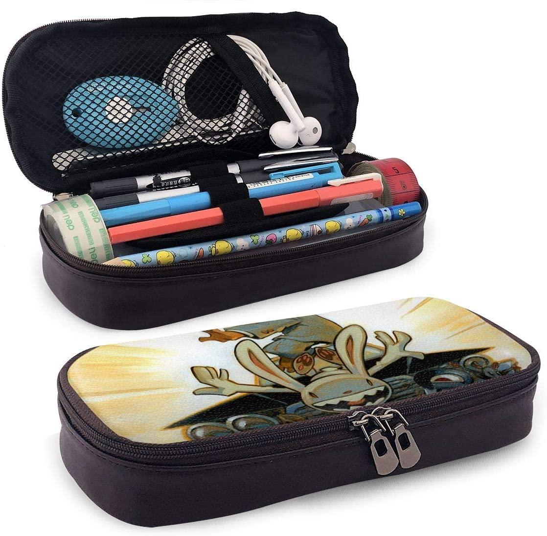 Sam and Max Teenager Pencil Bag, Small Tool Bag, Cosmetic Bag, Multi-Purpose Bag