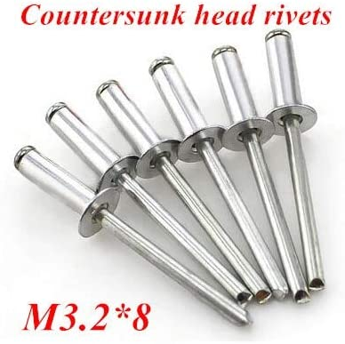 Ochoos 200pcs/lot M3.28 Aluminum Countersunk POP Head Rivet Core Pulling Decoration Rivets