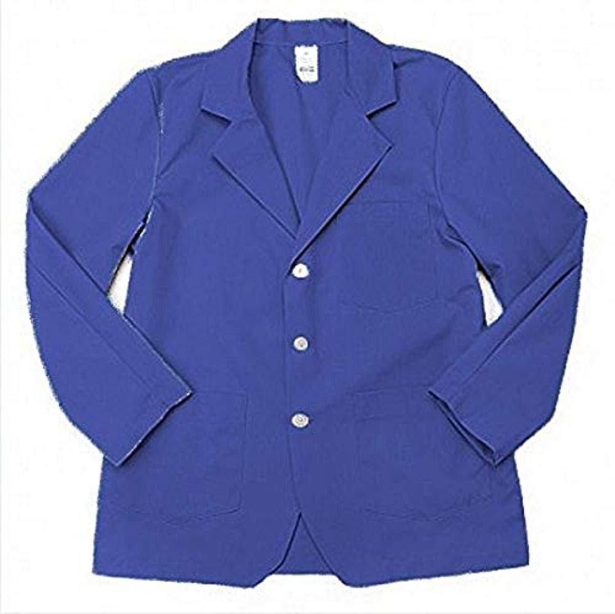 Pinnacle Textile LC18 5.25 OZ POPLIN 65/35 Polyester/Cotton, Lapel/Counter Coat-Large-Royal