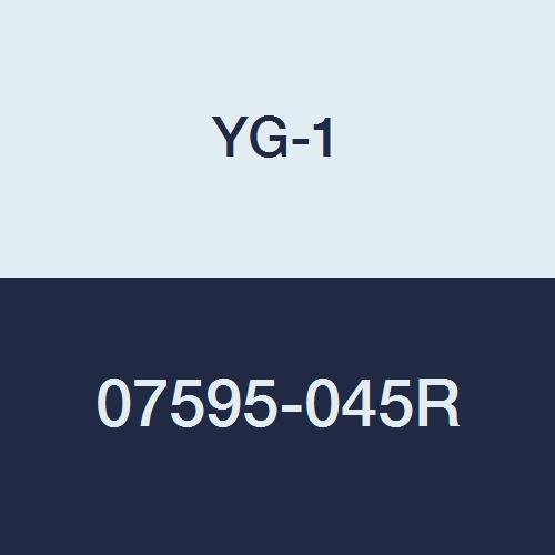 YG-1 07595-045R Carbide Corner Radius End Mill, 4 Flute, Regular Length, Uncoated Finish, 3-1/2