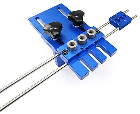Mottdam 3 in 1 Drilling Locator Kit,DIY Woodworking Tool High Precision Dowel Jigs Kit