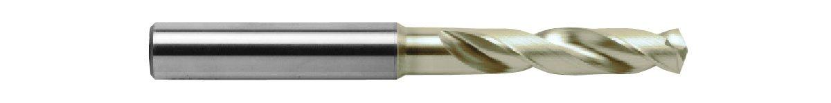 NACHI L7573P #28 Powered Metal High Speed Steel Stub Drill, SG Coated Finish, 6.61
