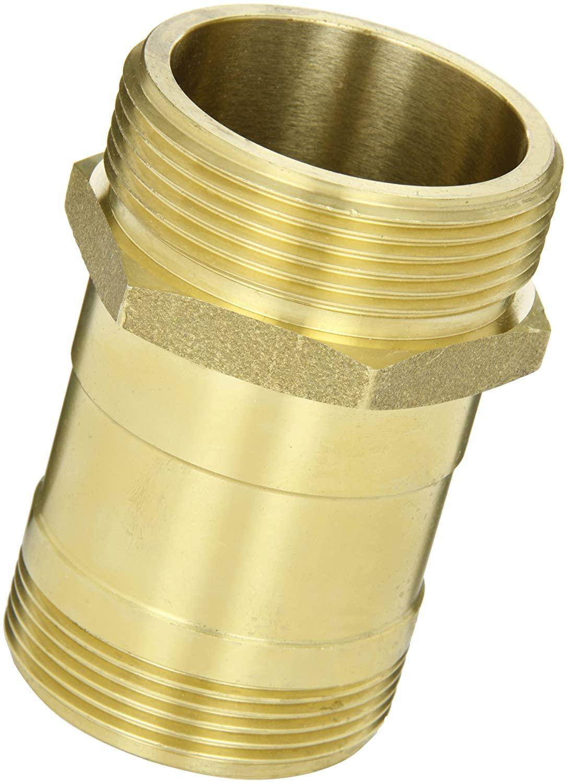 Moon 5358-2521 Brass Fire Hose Rack Nipple, 2-1/2