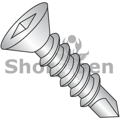 10-16X2 1/2 Square Drive Flat Head Fully Threaded Self Drilling Screw 18-8 Stainless Steel - Box Quantity 1000 by Shorpioen BC-1040KQF188
