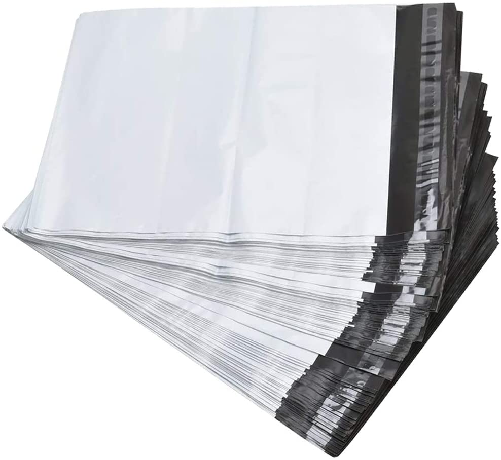 100pcs 14.5x19 Poly Mailers 2.5 Mil Envelopes Shipping Bags with Self Sealing Strip, White Poly Mailers