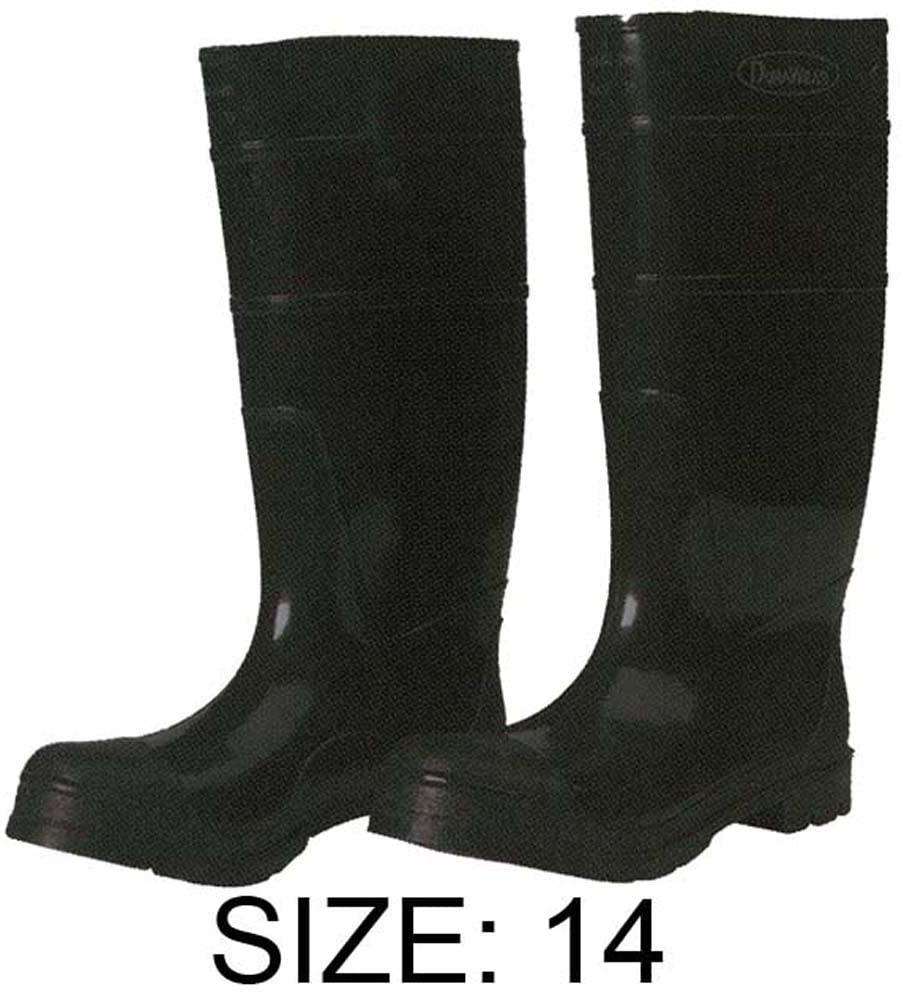 HAWK Black Pvc Knee Boots - 16