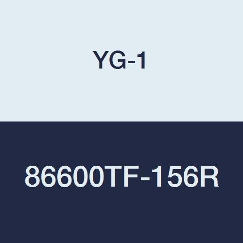 YG-1 86600TF-156R Carbide Corner Radius End Mill, 5 Flute, 45 Degree Helix, Regular Length, YG:Tylon F Finish, 4