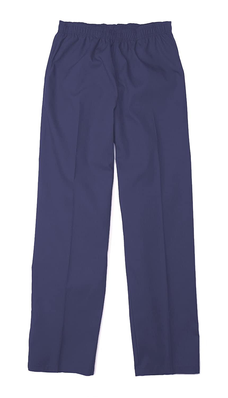 Pinnacle Textile SP63F 4.25 OZ 65/35 Polyester/Cotton, Female Elastic Waist PANT-4X-Large-Navy Blue