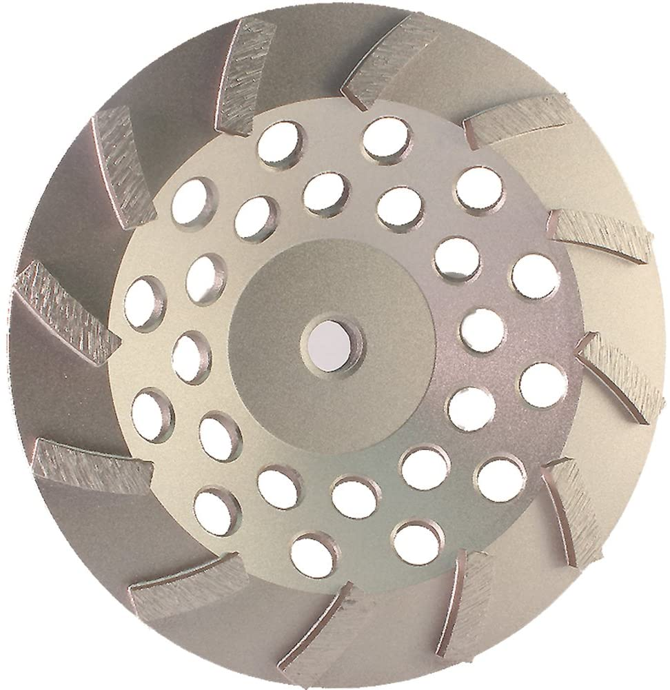 Quasar 7-Inch ASTRO 12 Segment Diamond Cup Grinding Wheel with 5/8-11 Arbor for Concrete, Masonry and Epoxy Removal