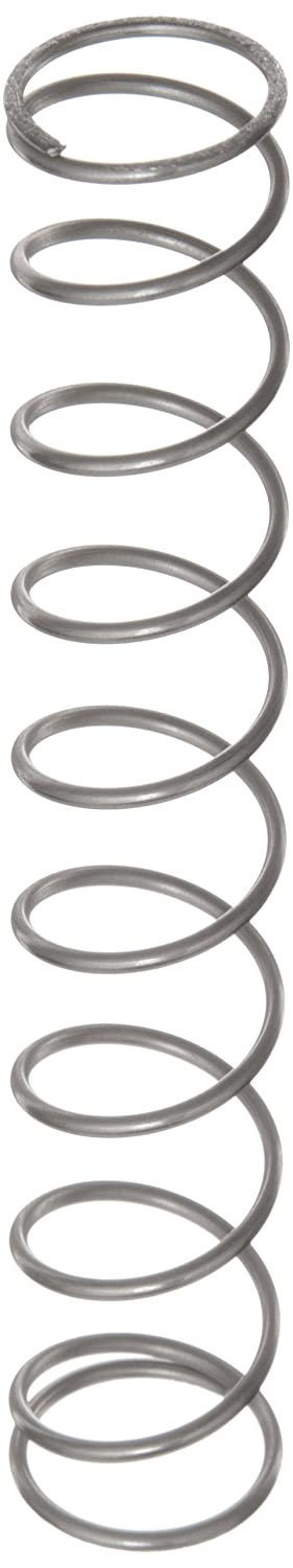 Compression Spring, Stainless Steel, Metric, 21.6 mm OD, 1.6 mm Wire Size, 25.5 mm Compressed Length, 110 mm Free Length, 70.68 N Load Capacity, 0.82 N/mm Spring Rate (Pack of 10)