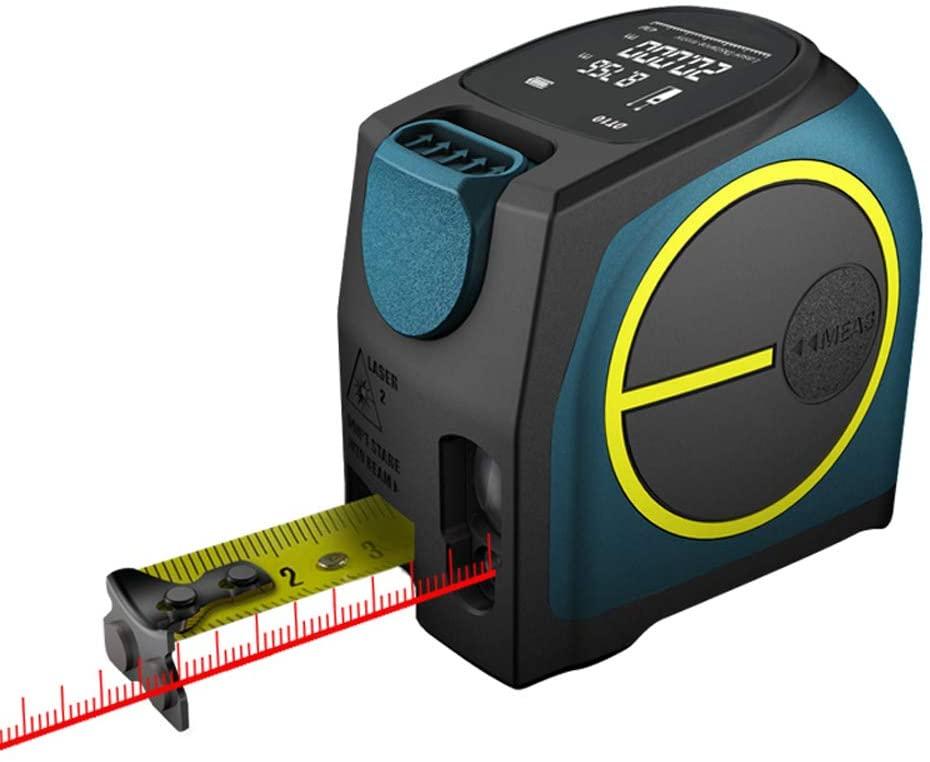 QWERTOUY Distance Meter Range Finder 40M Tape Measure Digital Retractable 5m rangefinder Ruler Survey Tool