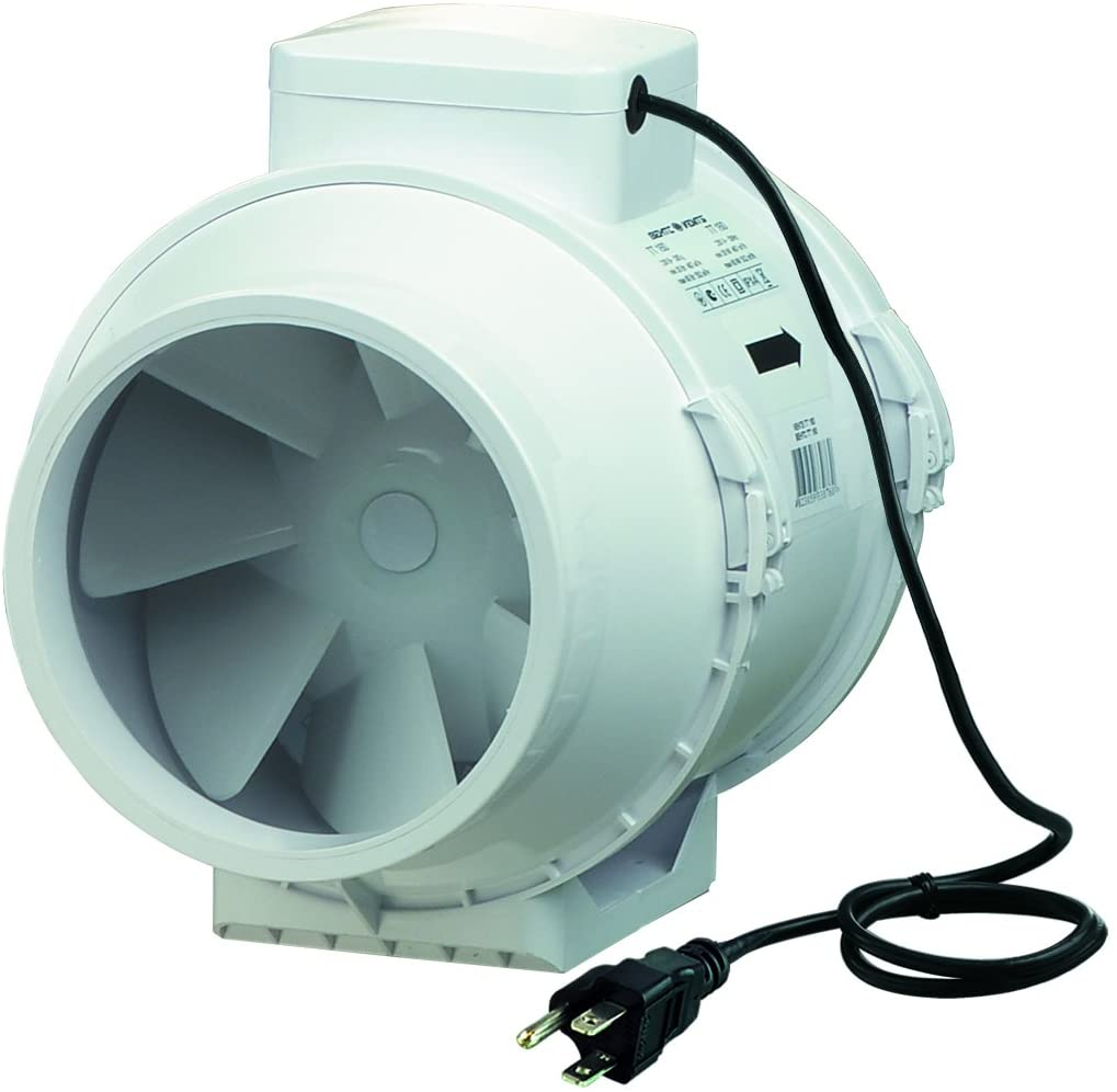 VENTS-US TT 200 Mixed Flow In-Line Fan, 8-Inch