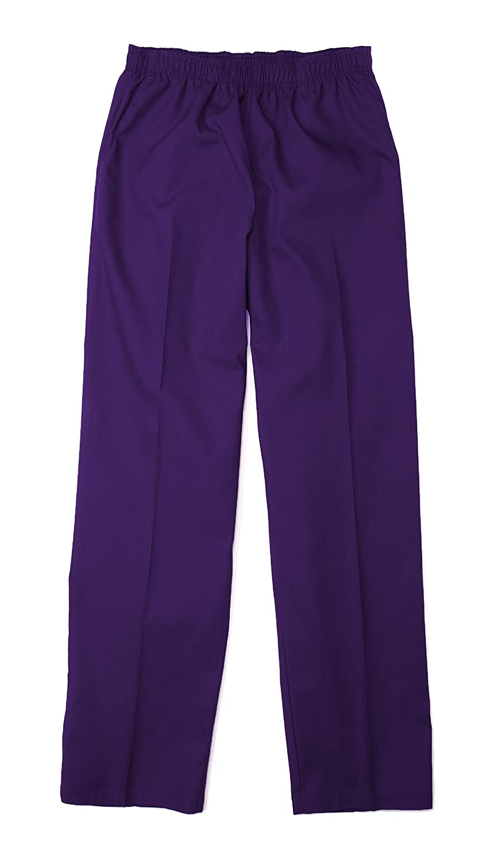 Pinnacle Textile SP63F 4.25 OZ 65/35 Polyester/Cotton, Female Elastic Waist Pant-Large-Purple