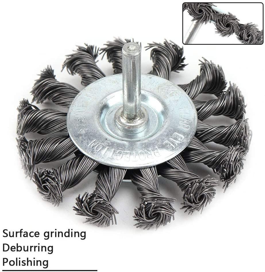 3 Inch Knotted Wire Wheel Standard Wire Wheel Brush 1/4'' Shank