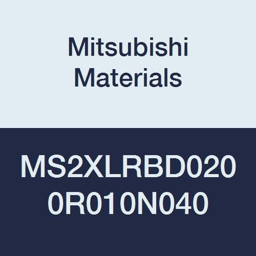 Mitsubishi Materials MS2XLRBD0200R010N040 MS2XL Series RB Carbide Mstar End Mill, 2 Short Flutes, Long Neck, Corner Radius, Radius Shape, 2 mm Cutting Dia, 0.1 mm Corner Radius, 4 mm Neck Length