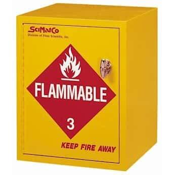 SciMatCo SC8023 Flammable Storage Cabinet, 4 Gallon Capacity, self-Closing Door
