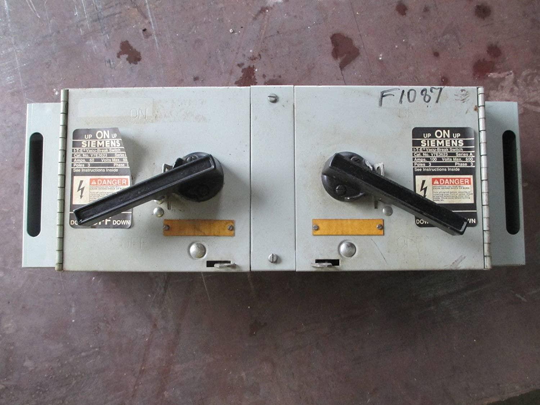 Siemens ITE V7E3623 100 Amp 600V Vacu Break Panelboard Dual Switch 100A 3 Pole