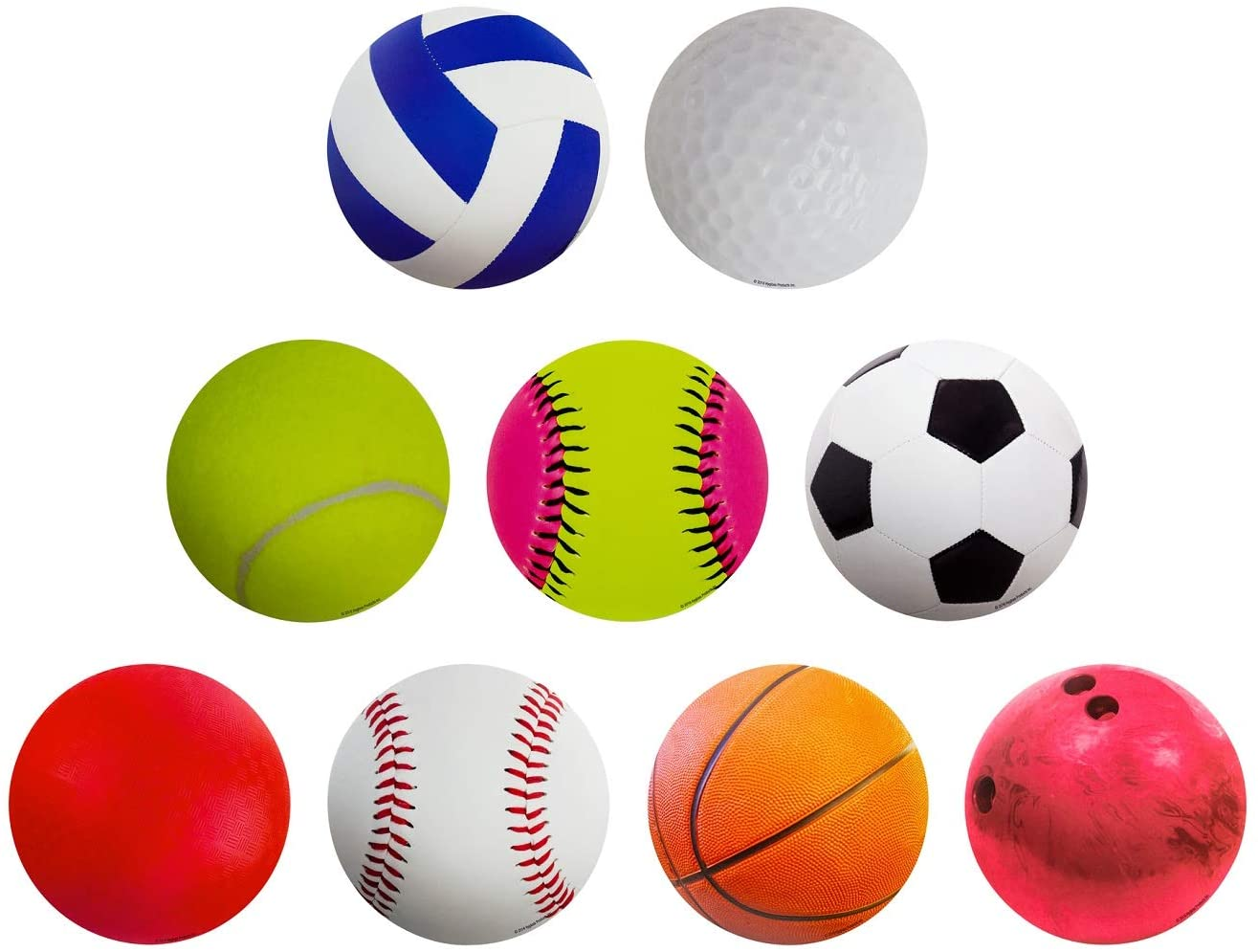 Hygloss Products Sports Balls Classroom Accents – Creative Teaching Resources – 6 Inches, 30 Pack