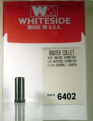 Whiteside Router Bits 6402 Steel Router Collet with 3/8-Inch Inside Diameter and 1/2-Inch Outside Diameter