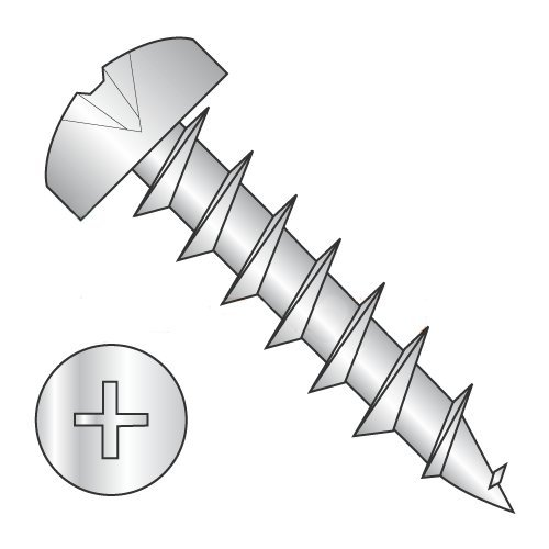#10 x 1 Deep Thread Wood Screws/Phillips/Pan Head/Steel/Zinc/Full Thread (Carton: 4,500 pcs)