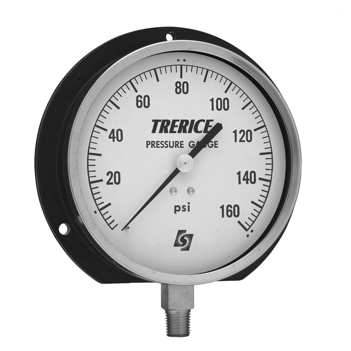 Trerice 500XB4502LA050 Industrial Gauge, 4.5