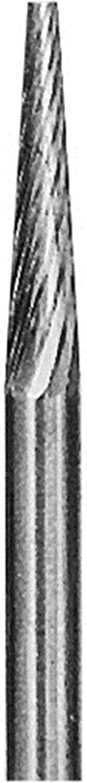 Cone 1/8X5/8X1/8 Standard Cut Carbide Bur Made in the USA by Grobet