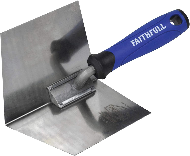 Faithfull Tools PTICTSS Faithfull Stainless Corner Trowel Int, Multi-Colour, 1