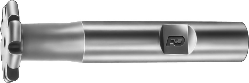 F&D Tool Company 12455-C605 Convex Shank Type Cutters, Form Relieved, High Speed Steel, 5/32