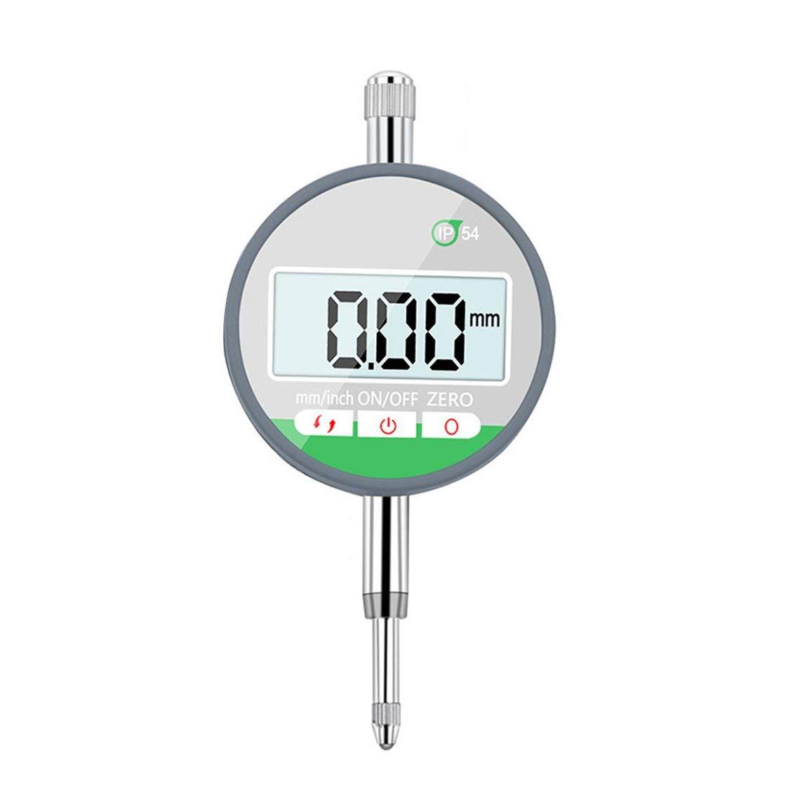 IP54 Electronic Digital Micrometer 0.001mm/0.01mm Dial Indicator Gauge Meter(Silver-Black) Angelshop